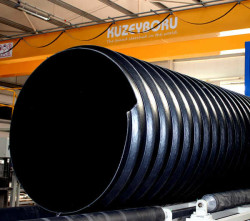 - 2400 MM SN 8 STEEL REINFORCED CORRUGATED PIPE