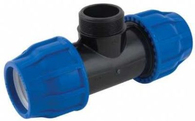 90-90MM HDPE COUPLING MALE ADAPTER