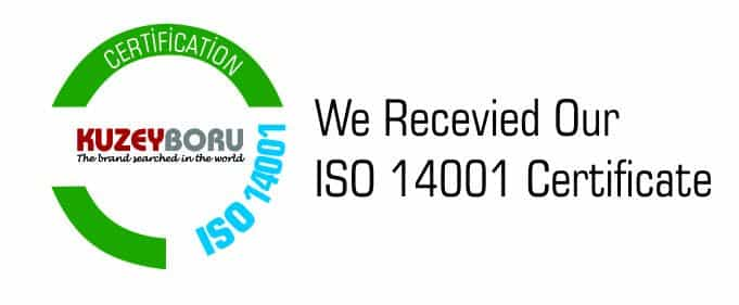 WE RECEIVED OUR ISO 14001 CERTIFICATE