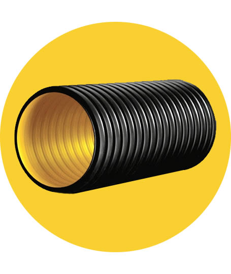 Corrugated Pipe Double Wall Pipes & Fittings HDPE Corrugated Pipes